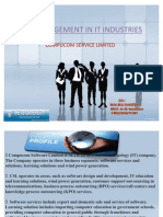 Hr Management in It Industries