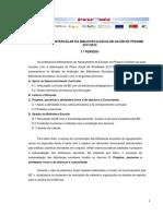 Relatório BE pedome 1º p 2011