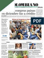 El Colombiano Primera Pagina Ene 11 2012