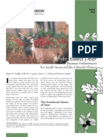 White-tailed Deer Browse Preferences for South Texas and the Edwards Plateau