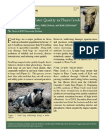 Feral Hogs and Water Quality in the Plum Creek Watershed