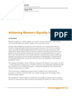 Achieving Women's Equality