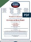 Gov. Rick Perry's Washington Kickoff for Rick Perry