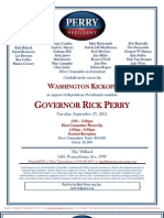 Gov. Rick Perry's Washington Kickoff for Rick Perry