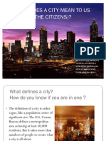 What Does a City Mean to Us