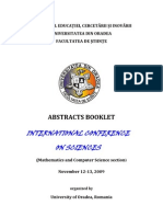 ICS2009Abstracts- Octavia Nica - Math and Comput Science