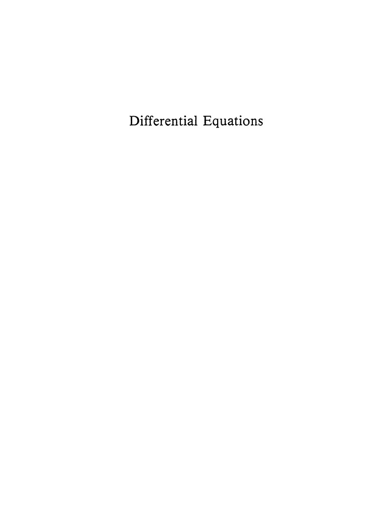 Equations Introduction | Ordinary Differential Equation | Bending
