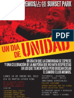 Bi-Lingual Unity Day-Un Dia de Unidad Poster English Espanol