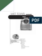MORI-01 - Hot Towel Dispenser - Instruction (Version B)