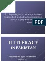 essay on illiteracy in pakistan