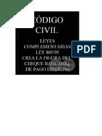 Ley 805-95 - Crea El Cheque Bancario de Pago Diferido