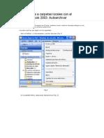 Mover Archivos a Carpetas Locales Con El Microsoft Outlook 2003