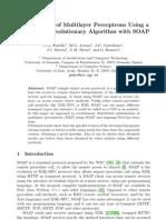 P.A. Castillo et al- Optimisation of Multilayer Perceptrons Using a Distributed Evolutionary Algorithm with SOAP