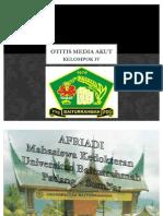OTITIS MEDIA AKUT [AFRIADI Mahasiswa Kedokteran Universitas Baiturrahmah