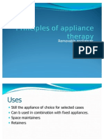Principles of Applience Therapy-removable Appliances