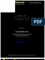 Dracula Script - Horror Book & Movie