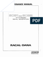 Racal 9081 9082 Signal Generator Maintenance Manual
