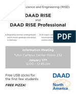 DAAD Information Flyer General