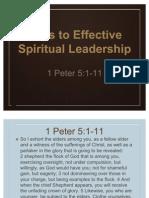 Keys to Effective Leadership 1-8-12