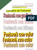 t3 Writer Ejemplo de Fontwork y Dibujos