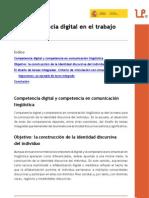 La competencia digital en el trabajo por tareas. Fernando Trujillo Sáez