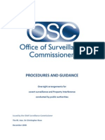 Office of Surveillance Commissioners - PROCEDURES AND GUIDANCE (2008)