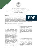 EVALUACIÓN SENSORIAL EN BEBIDAS LACTEAS FERMENTADAS
