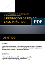 Módulo l. DEFINICIÓN DE TESIS O CASO PRÁCTICO