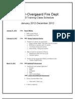 2012 EMS Training Schedule