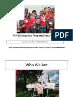 Minnesota Emergency Preparedness Center Webinar with Autism NOW January 10, 2012