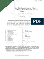 FuelRegressionRateCharacterizationUsingALaboratoryScaleNitrousOxideHybridPropulsionSystem Lohner-2006 Full++