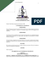 reglamento a la Ley Organica del presupuesto actualizado DTO 240-98