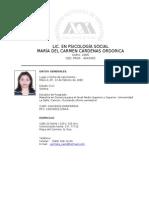 Currículum Vitae, 2011-2012