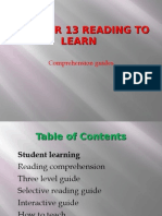 Chapter 13 Reading to Learn