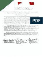 MLK Tri-signed letter