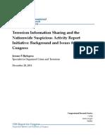 R40901-Terrorism Information Sharing & Nationwide Suspicious Activity Report Initiative