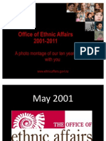 Photo Montage. 10 Years of Office of Ethnic Affairs