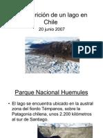 Desaparición de un lago en Chile