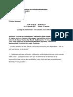 Examen du 10 janvier 2011 Rédaction I