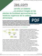 101201 Econoticias. Biogas de Residuos Orgánicos (Interesante)
