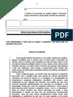 Prova de Lingua Portuguesa - Nivel Medio