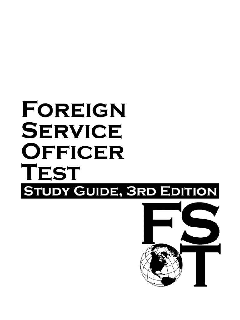 Foreign Service Officer Test - Study Guide 3rd Edition