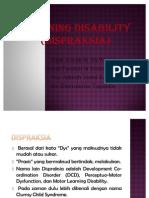 Learning Disability Dispraksia