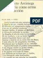 La Historia Como Arma de la Reacción. Alberto Prieto Arciniega
