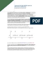 Un algoritmo general de tipo Ruffini para la división de polinomios arbitrarios