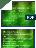 Analisis Pekerjaan Dan Analisis Jabatan 16