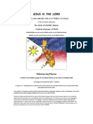 Filipinos Are Among the Lost Tribes of Israel | Tagalog Language