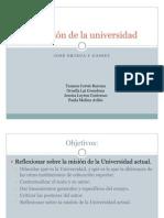 La misión de la universidad