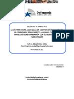 Dcto. de Trabajo 25-2011 La Víctima en las Audiencias de  Sustitución y Remisión