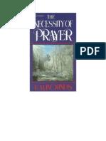 Necessity of Prayer2
